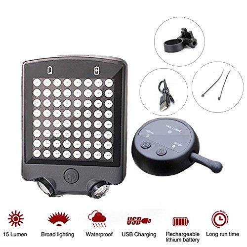 galwad® 64LED Warnlicht Kabelloser Fernbedienung Contral USB Charge Fahrrad Rücklicht Blinker Sicherheit Fahrrad Radfahren Rücklicht Gerät