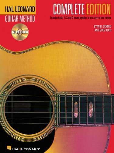 Hal Leonard Guitar Method, Complete Edition: Books & CD's 1, 2 and 3 2nd edition by Schmid, Will, Koch, Greg (2002) Plastic Comb
