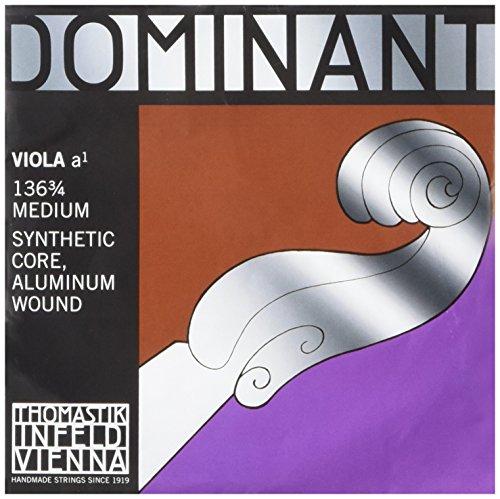Thomastik Einzelsaite für Viola 3/4 Dominant - A-Saite Nylonkern Aluminium umsponnen, mittel