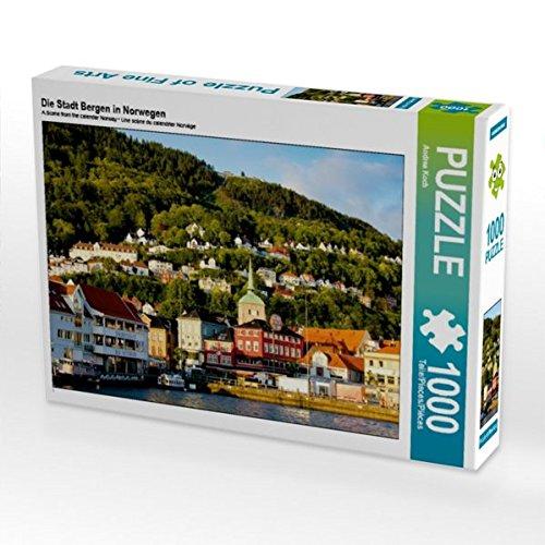 Preisvergleich Produktbild Die Stadt Bergen in Norwegen 1000 Teile Puzzle quer
