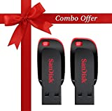 #2: SanDisk Cruzer Blade SDCZ50-32G-I35 32GB USB 2.0 Pen Drive Combo Pack of 2