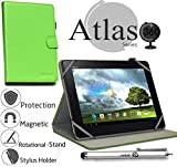 Navitech 10 Zoll grünes Case / Cover mit 360 Rotierbare Stand Funktion mit Stylus Pen für das Odys Lux 10 Tablet-PC