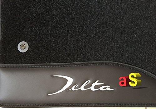 autoSHOP 11018/DELTA Tappeti Tappeto Moquette con Ricami Su Pelle e Bottoni di Fissaggio