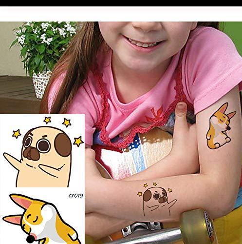 chen Hände Arm Gelb Fox Stars Temporäre Tattoos Aufkleber Frauen Body Art Tatto Cartoon Gefälschte wasserdichte Benutzerdefinierte Tattoo DIY PCS 4 ()
