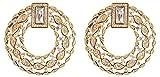 Anazoz Élégant Noble Boucle d'oreille Femme 18K Plaqué Or Fashion Rond Design...