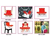 #5: Honey Bee 5 in 1 Baby Swing cum Baby Chair cum Baby Car Seat,Baby Buster Sheet-Red