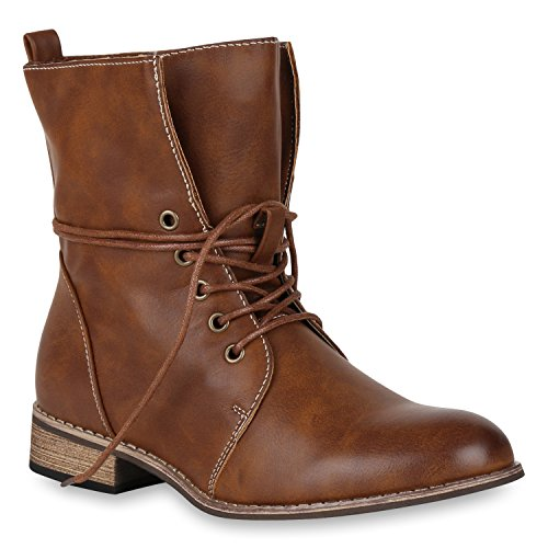 Stiefelparadies - Botas clásicas Mujer , color marrón, talla 36