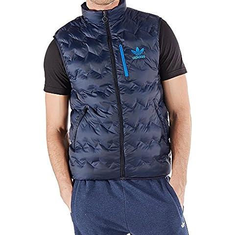 adidas Serrated Vest - Chaleco para hombre, color negro, talla L