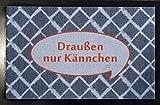 Fußmatte Draußen nur Kännchen - Fußabtreter waschbar 40 x 60 cm
