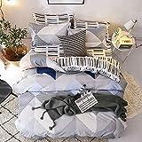 Bettbezug 3-teiliges Set, Kissenbezug Zipper Bettbezug Soft Kinder Schule Bettbezug Jade FR-Single