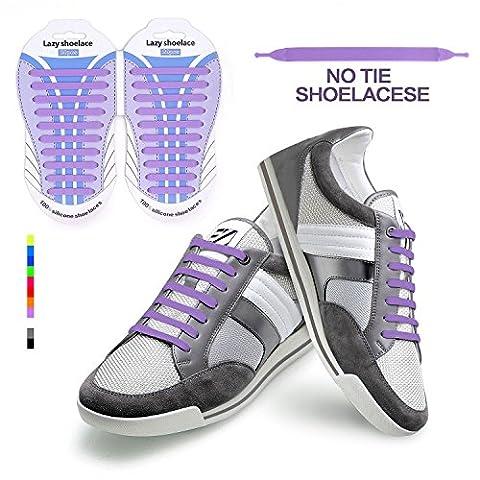 Elastische Silikon Schnürsenkel elastische Schnürsenkel,No Tie Shoelaces für rwachsene Wasserdichte
