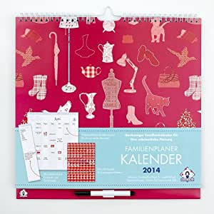 Familienplaner Kalender 2014. Wochenkalender mit 6 Spalten und cleveren organisatorischen Merkmalen