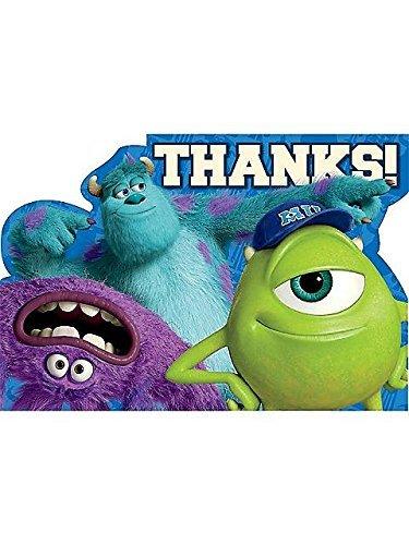 Monsters University Inc. Thank You Postcards w/ Envelopes (8ct)