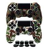 Hikfly Silikon mit Gummi Öl Gel Controller Deckel Hautschutz Fall Faceplates Kits für Sony Playstation 4 PS4 / PS4 Slim