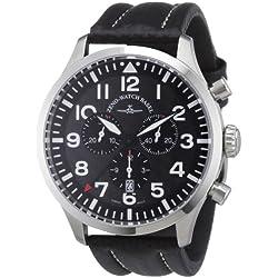 Zeno Watch Basel Herren-Armbanduhr XL Quarz Analog Leder 6569-5030Q-s1