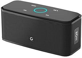 DOSS SoundBox - Touch Bluetooth Lautsprecher Kabellose Portabler 12W Lautsprecher mit 12-Stunden Spielzeit & Dual-Treiber Wireless Speakers mit TF Karte, Mikrofon und Reinem Bass [Schwarz]