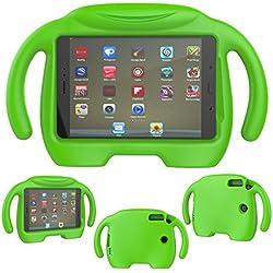 Lanspo - Funda protectora de silicona para tablet de 8 pulgadas, para Samsung Galaxy Tab A T350, color verde