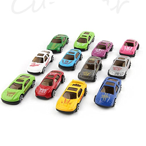 12Legierung Modell Spielzeug Auto, mamum 12klassischen Mini Cartoon Form Legierung Slide Glide Modell Auto Spielzeug Geschenke