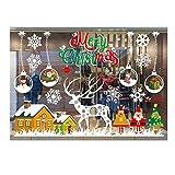 Wawer Weihnachten Aufkleber Modern Restaurant Mall Dekoration Schnee Glas Fenster Dekoration Abnehmbare Wandaufkleber Schaufenster Geschäft Fenster Abziehbilder Dekor Weihnachten Dekoration (E)