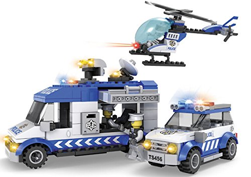 Preisvergleich Produktbild Artful child deformed block puzzle 3-in-1 block small particles assembled police patrol 10122