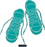CLICKANDPRINT Aufkleber » Sneakers, 90x88,3cm, Türkis • Wandtattoo / Wandaufkleber / Wandsticker / Wanddeko / Vinyl