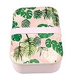 Rex London 27812 - Lunchbox aus Bambusfasern (Innenmaße: 17,5cm x 11 cm x 4,5 cm) - Tropical Palm