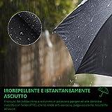 Pataele Regenschirm Taschenschirm, Auto Öffnen und Schließen für Einhandbedienung, Größere 210T Teflon Wasserdichte Überdachung, 10 Rippen Winddicht - 4