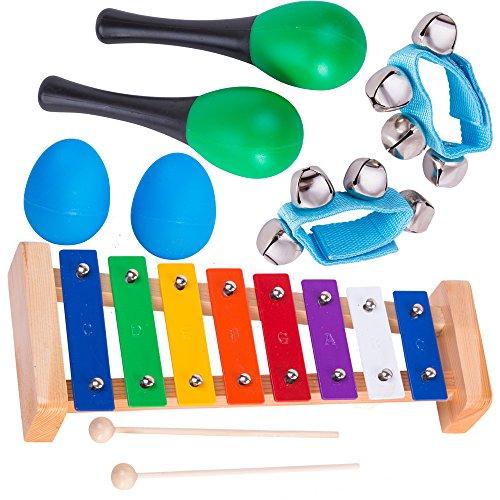 Tulatoo Musikspielzeug - Set für Baby und Kleinkind - Musikalisches Schlaginstrumenteset für Kinder - Alle Altersstufen