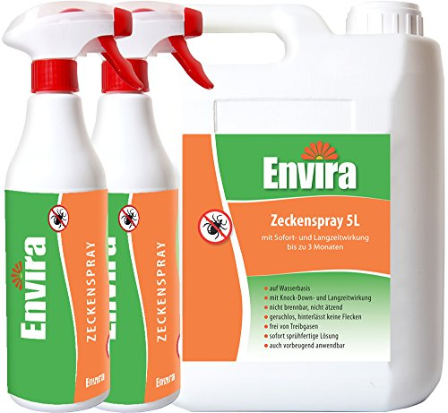 ENVIRA Zecken-Vernichtungsmittel 5Ltr+2x500ml