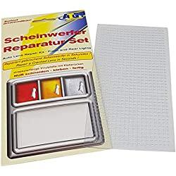 ATG, headlight repair kit, PVC sheet clear: suitable for front and rear lights on car, motorbike or caravan. Emergency aid for travel. Suitable for acrylic and perspex. A simple and fast headlight repair.