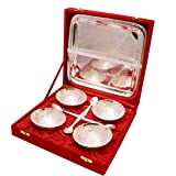 #7: Special Dealz A German Silver Four Bowl Set Of Tray With Spoon 1048