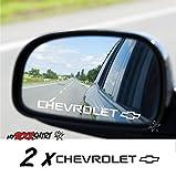 Chevrolet 2 x Aufkleber aus Milchglasfolie Frost Gravuroptik Gravur Sticker Aussenspiegel Spiegel Aufkleber Autoaufkleber Sticker Hochleistungsfolie von myrockshirt ® estrellina Gravur Sticker Glücksstern Milchglas Sticker