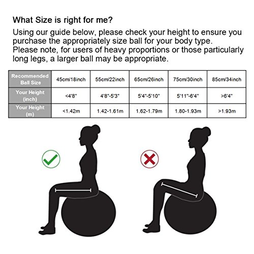 45cm – 85cm Exercise Ball, Birthing Ball, Yoga Swiss Fitness Ball, Natural Birth Maternity Ball, with Anti-slip Matte Surface, Anti-Burst ( 2000lbs ) TRIDEER Extra Thick Core Stability Balance Strength Workout Ball, Body Balance Trainer Balancing Yoga Pilates Swedish Stabilization Ball with Pump Plug Kit, for Pilates, Yoga, Core Cross, Training, Physical Therapy, Work Desk Office, for Men Women Lady(Sizes come in 45cm, 55cm, 65cm, 75cm, 85cm available for your option) (Silver, 85cm)