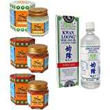 2 Jars of Tiger Balm Red Ointment 30gm/Jar + Tiger Balm White Ointment 30gm/Jar + Kwan Loong Medicated Oil 57ml (Largest Size!)