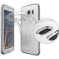 URCOVER® Funda Protectora en Silicona Ultra-delgada | Samsung Galaxy S6 | TPU PROTECTOR DE CÁMARA in Transparente | Carcasa Estuche Case Cover Movíl Accesorio