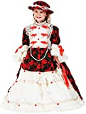 COSTUME ROBE CARNAVAL MADAME POMPADOUR fancy dress halloween cosplay veneziano party 8923 Size 10/XL