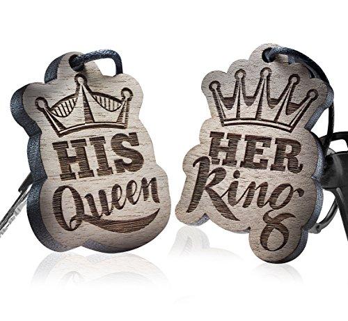 Preisvergleich Produktbild Schlüsselanhänger - Her King - His Queen