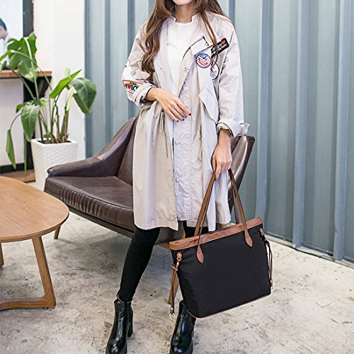 YYW Work Tote Bag, Borsa a zainetto donna coffee color