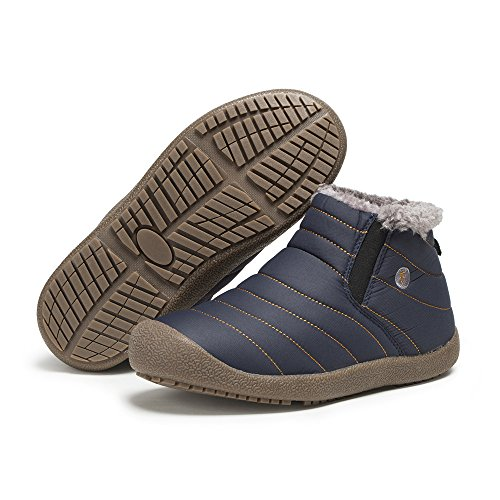 FLARUT Boots Winterstiefel Schneestiefel Outdoor Warm Gefütterte Rutschfeste Gemütlich für Winter Neutral Blau-A