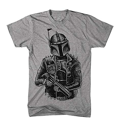 Herren T-Shirt Punk Boba Fett Bounty Hunter