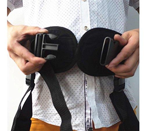 XYLUCKY Transferencia de la atención médica hasta el cinturón auxiliar Shifter, Rehabilitation Walking Belt , black , xl