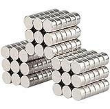 Wukong Neodym Magnete 8x3 mm 108 Stück Mini Magnete Extrem Stark Sehr Starke Magnete für Glas-Magnetboards, Magnettafel, Whiteboard, Tafel, Pinnwand, Kühlschrank, und vieles mehr
