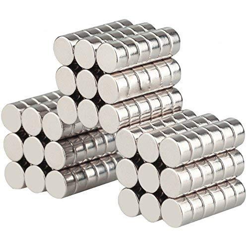 Wukong Neodym Magnete 8x3 mm 108 Stück Mini Magnete Extrem Stark Sehr Starke Magnete für Glas-Magnetboards, Magnettafel, Whiteboard, Tafel, Pinnwand, Kühlschrank, und vieles mehr -