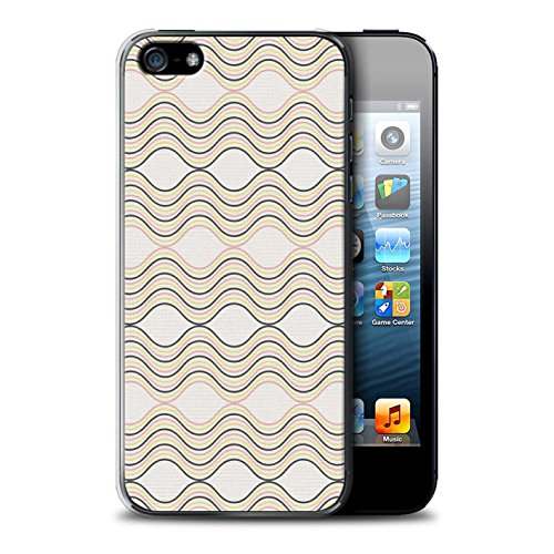 Coque de Stuff4 / Coque pour Apple iPhone 6 / Zig Zag Bleu Design / Mode Hivernale Collection Rayures Ondulées