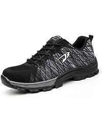Chaussure de Sécurité Homme Femme Chaussures de Travail en Acier Toe léger Respirant Anti-crevaison Chaussures de Protection Outdoor Hiking Trekking Casual Sneakers