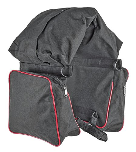 Satteltasche Nylon 3Taschen–ac00050 schwarz