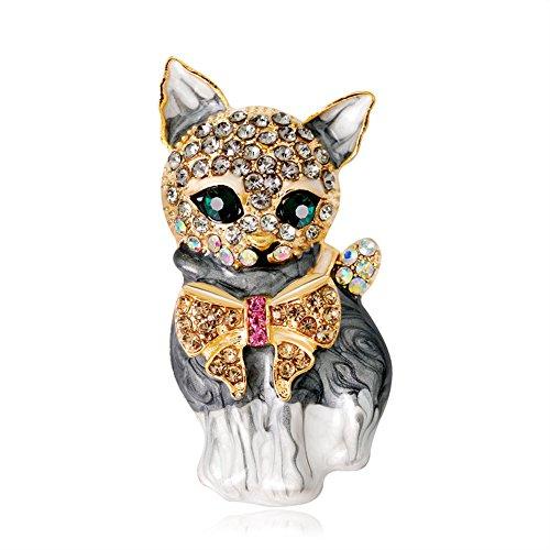 (DaoRier Niedlich Katze Brosche Schmuck Zubehör Broschen Kleidung Dekoration Mantel Hemd Deko Brooch Size 2.2 * 4.3 cm)