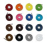 McLaces 1 Paar Gewachste Schnürsenkel 3 Oder 4 mm, 100% Baumwolle, Waxed Laces (3mm 110 cm, Weiß)