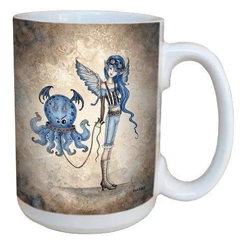 Tree-Free Greetings lm43569 15 oz Whimsical Roxy's New Pet Fairy Ceramic Mug with Full Sized Handle