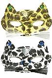 Karnevals Domino Maske in gold braun für venedischen Ball Kostüm Zubehör